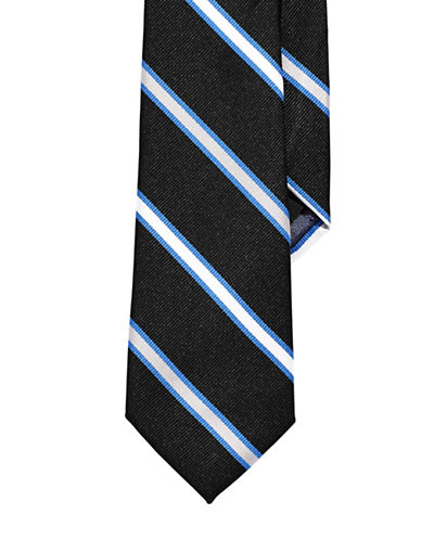 Izod Striped Tie-BLACK-One Size