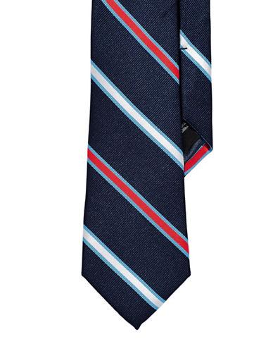 Izod Striped Tie-NAVY-One Size