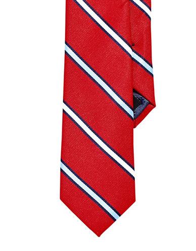 Izod Striped Tie-RED-One Size