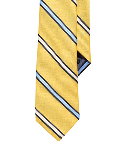 Izod Striped Tie-YELLOW-One Size