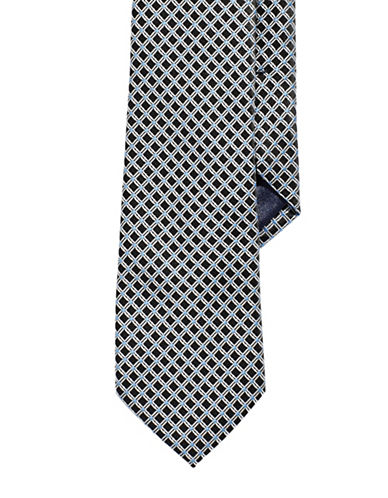 Izod Neat Tie-BLACK-One Size