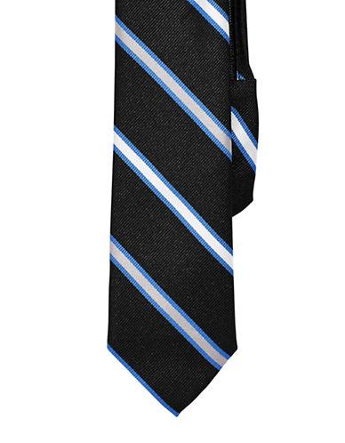 Izod Striped Zip Tie-BLACK-One Size