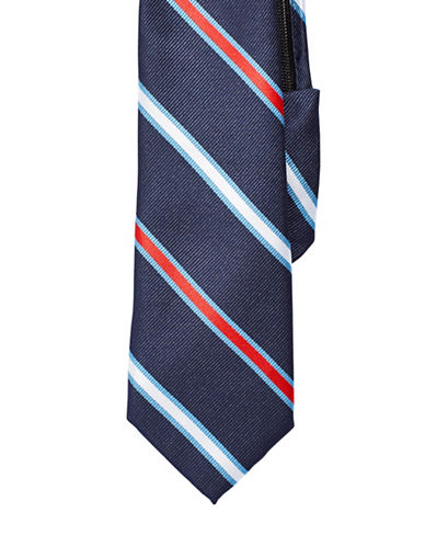Izod Striped Zip Tie-NAVY-One Size