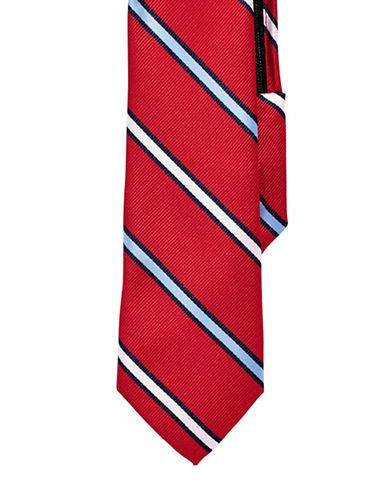 Izod Striped Zip Tie-RED-One Size