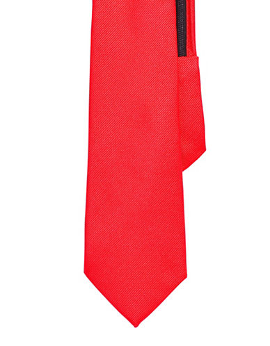 Izod Solid Zip Tie-RED-One Size