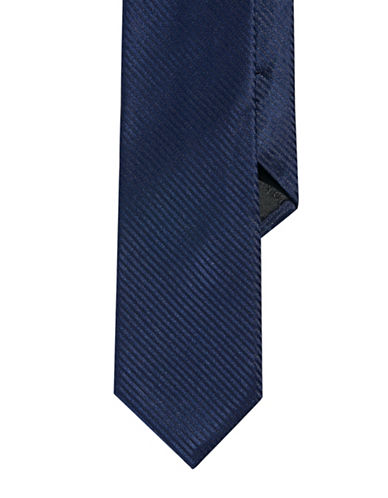 Calvin Klein Striped Slim Tie-BLUE-One Size