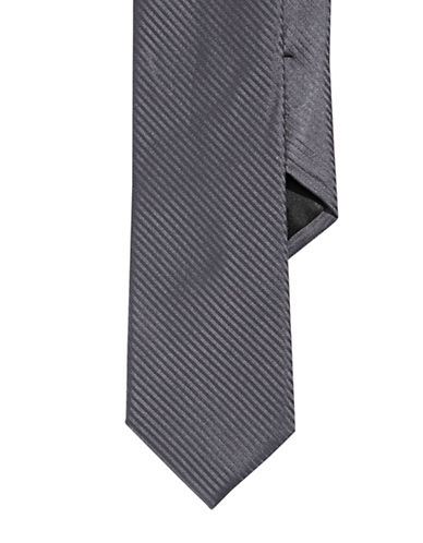 Calvin Klein Striped Slim Tie-CHARCOAL-One Size