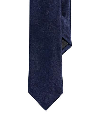 Calvin Klein Solid Slim Tie-NAVY-One Size