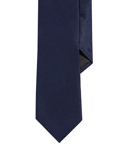 Calvin Klein Solid Slim Tie-BLUE-One Size