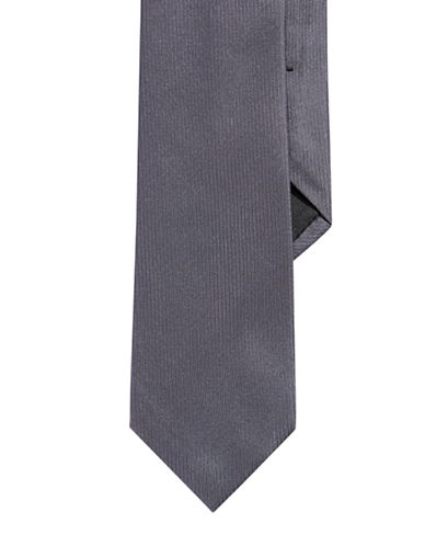 Calvin Klein Solid Slim Tie-CHARCOAL-One Size