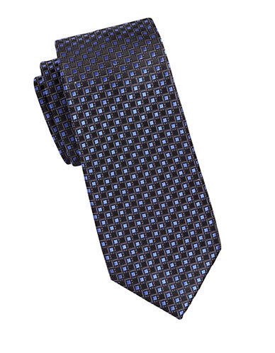Michael Michael Kors Grid Neat Silk Tie-BLUE-One Size