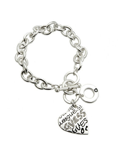 Guess Graffiti Heart Bracelet-SILVER-One Size