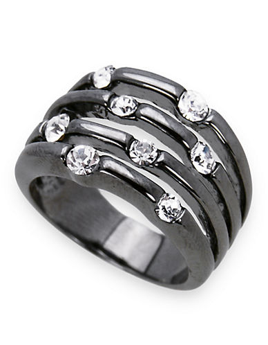 Guess Multi Stone Crystal Ring-GREY-7