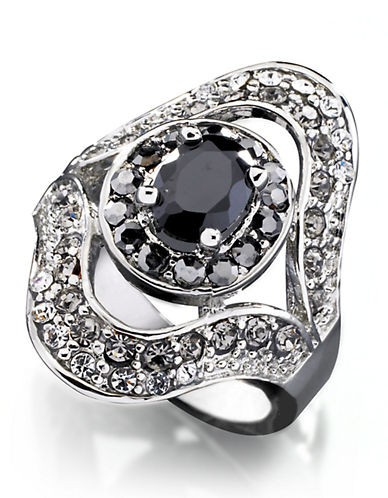 Guess Multi Stone Crystal Ring-GREY-8