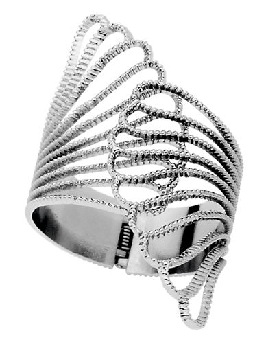Guess Silver Tone Claw Cuff Bracelet-SILVER-One Size