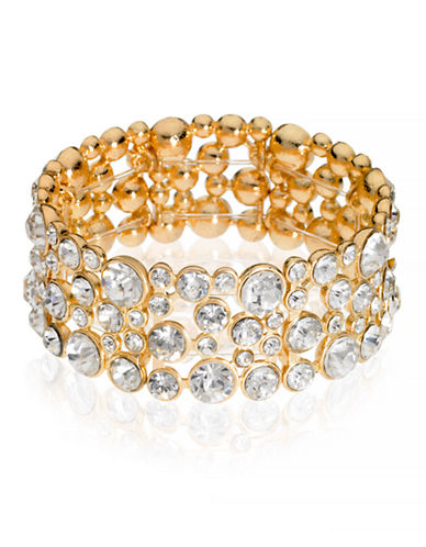 Guess Crystal Accented Bracelet-GOLD-One Size