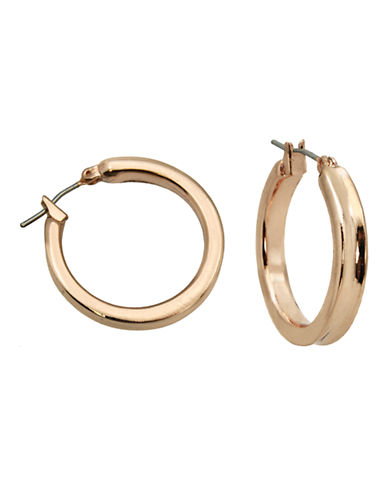 Guess Thick Rose Tone Hoop Earring-ROSE GOLD-One Size