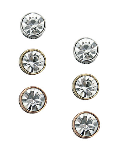 Guess Trio Bezel Stud Earring Set-SET-One Size