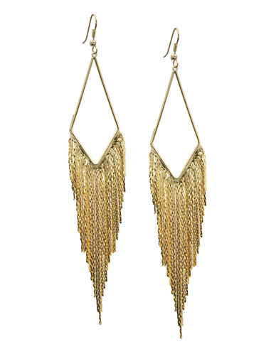 Guess Slinky Tassel Earrings-GOLD-One Size