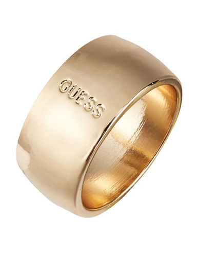 Guess Wide Rosetone Ring-GOLD-7