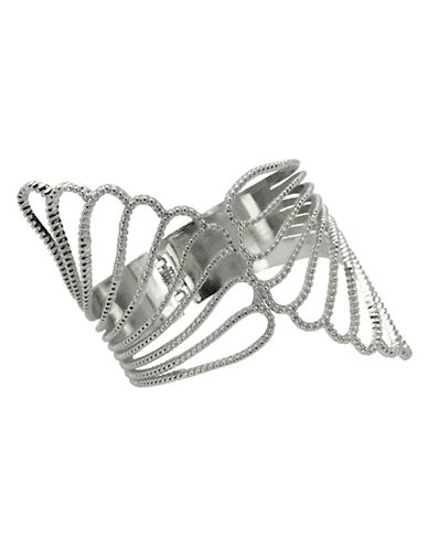 Guess Filigree Claw Cuff-SILVER-One Size