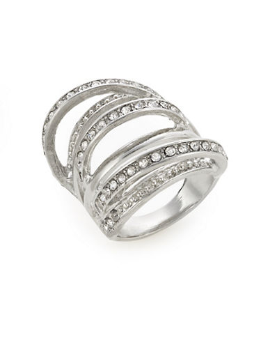 Guess Multi-Row Ring-SILVER-8