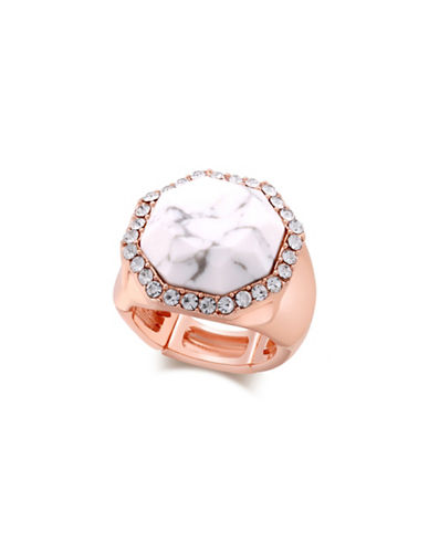 Guess Marbled Stone Stretch Ring-ROSE GOLD-7