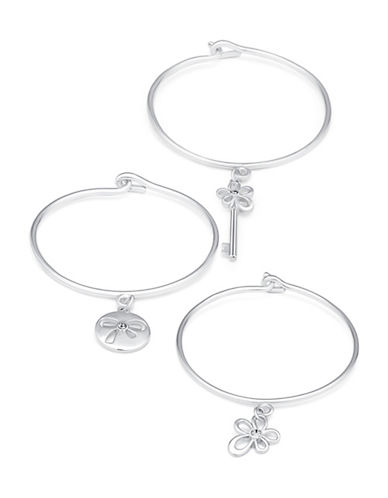 Guess Trio Tension Bangle Set-SILVER-One Size