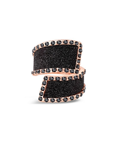 Guess Bypass Glitter Stone Ring-ROSE-7