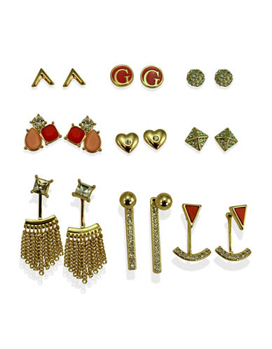Guess Desert Gypsy Nine-Piece Goldtone Earring Set-ASSORTED-One Size
