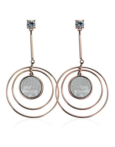 Guess Skin Is In Two-Tonal Multi Circle Orbital Drop Earrings-TWO-TONE-One Size