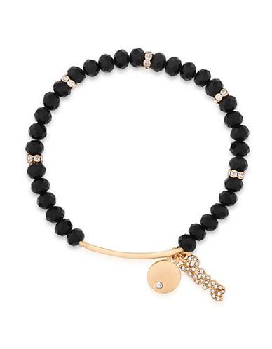 Guess Pave Charm Stretch Bracelet-BLACK-One Size