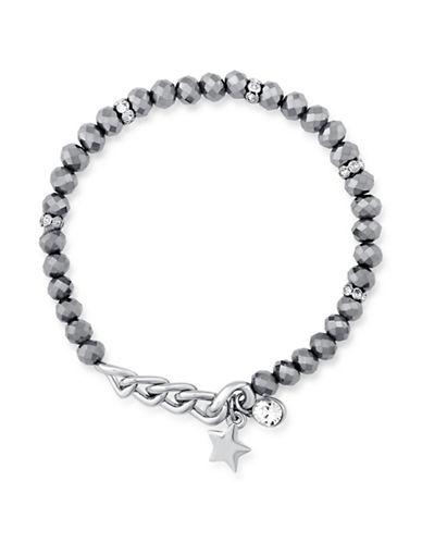 Guess Pave Charm Stretch Bracelet-SILVER-One Size