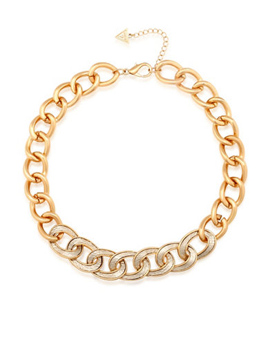 Guess Curb Chain Necklace-GOLD-One Size