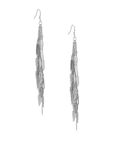 Guess Silver Feather Earrings-SILVER-One Size