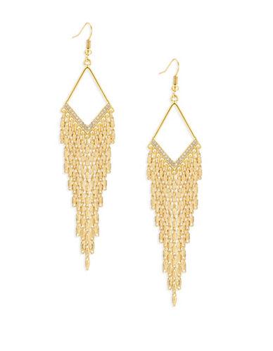 Guess Diamond-Shape Goldtone Multi-Chain Earrings-GOLD-One Size