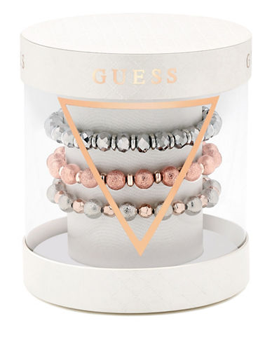 Guess Three-Piece Stretch Bracelet Set-MULTI-One Size