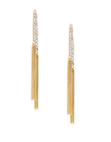 Guess Ear Update Goldtone Multi-Chain Drop Earrings-GOLD-One Size