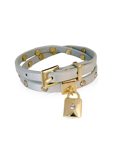 Guess Metallic Metals Crystal Wrap Bracelet-GOLD-One Size