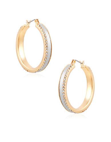 Guess Earring Update Crystal Hoop Earrings-GOLD-One Size