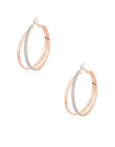 Guess Hoop Earrings-PINK-One Size