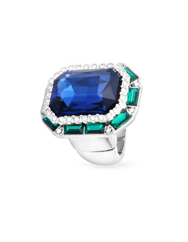 Guess Crystal Stretch Ring-SILVER-One Size