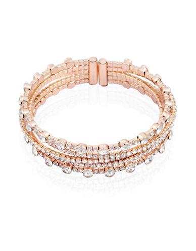 Guess Crystal Cuff Bracelet-GOLD-One Size