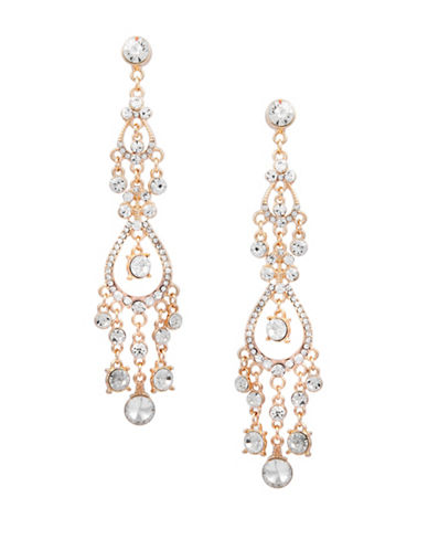 Guess Crystal Chandelier Earrings-GOLD-One Size