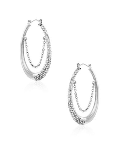 Guess Earring Update Crystal Earrings-SILVER-One Size