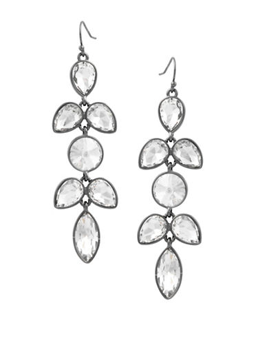 Guess Crystal Drop Earrings-GREY-One Size