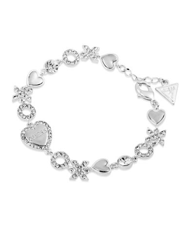 Guess Hearts and Crystal XOXO Bracelet-GOLD-One Size