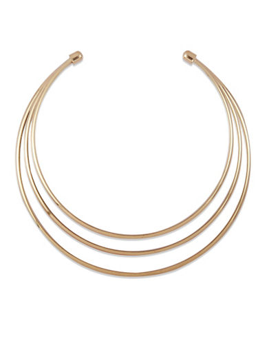 Guess Multi-Wire Choker Necklace-GOLD-One Size