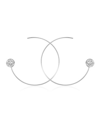 Guess Crystal Threader Earrings-SILVER-One Size