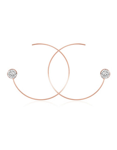Guess Crystal Threader Earrings-ROSE-One Size